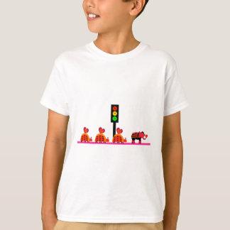 Camiseta Sinal de trânsito temperamental com caravana do