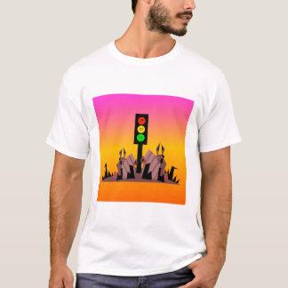 Camiseta Sinal de trânsito temperamental com coelhos, fundo