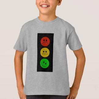 Camiseta Sinal de trânsito temperamental verde inclinado
