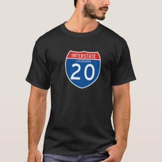 Camiseta Sinal de um estado a outro 20 - Louisiana