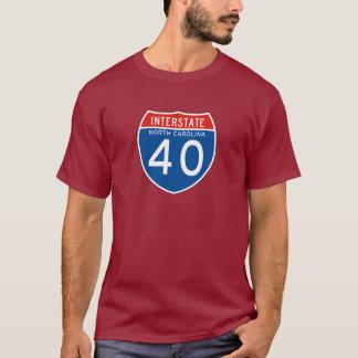 Camiseta Sinal de um estado a outro 40 - North Carolina