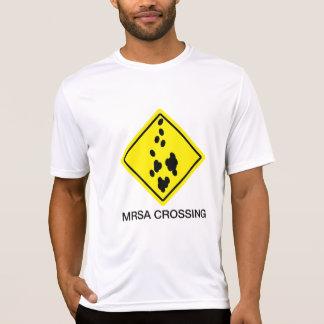 Camiseta Sinal do cruzamento de MRSA