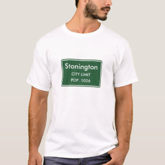 Camiseta Sinal do limite de cidade de Stonington