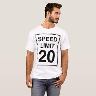 Camiseta Sinal do limite de velocidade 20