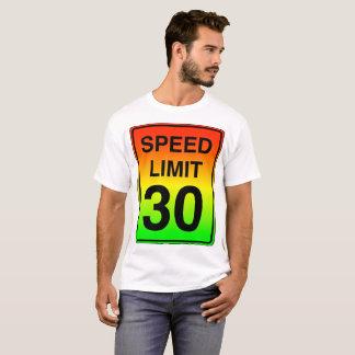 Camiseta Sinal do limite de velocidade 30 com cores do