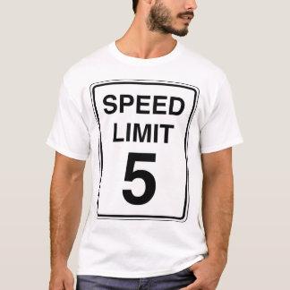 Camiseta Sinal do limite de velocidade 5