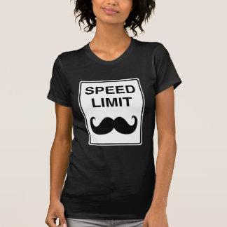 Camiseta Sinal do Mustachio do limite de velocidade