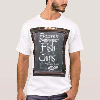 Camiseta Sinal do peixe com batatas fritas