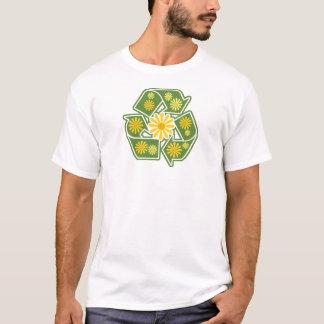 Camiseta Sinal floral do reciclar