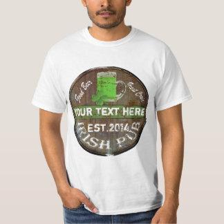 Camiseta Sinal irlandês personalizado do bar