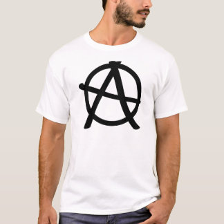 Camiseta sinal preto da anarquia