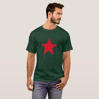 Camiseta Sinal vermelho do símbolo da estrela da guerra