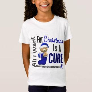 Camiseta Síndrome crônica da fadiga do CFS do Natal 2
