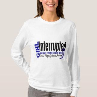 Camiseta Síndrome crônica interrompida menina da fadiga do