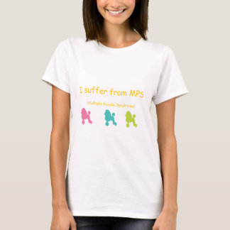 Camiseta Síndrome múltipla da caniche