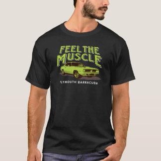 Camiseta Sinta o t-shirt do músculo