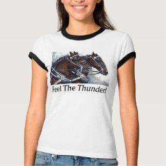 Camiseta Sinta o trovão! - Cavalos de Percheron