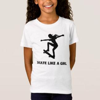 Camiseta Skate como uma menina (skateboarding)