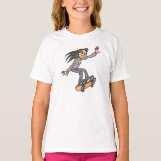 Camiseta Skate Skateboarding do divertimento da menina do