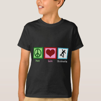 Camiseta Skateboarding do amor da paz