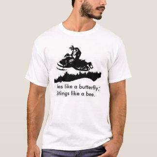 Camiseta ski-doo-bkg.ai, moscas como uma borboleta,
