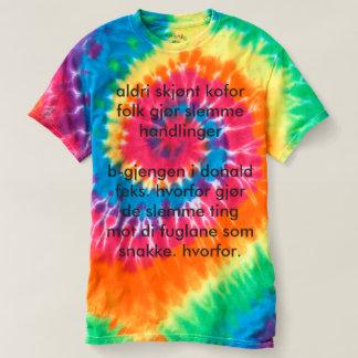 Camiseta skjorte do batikk do filosofisk -