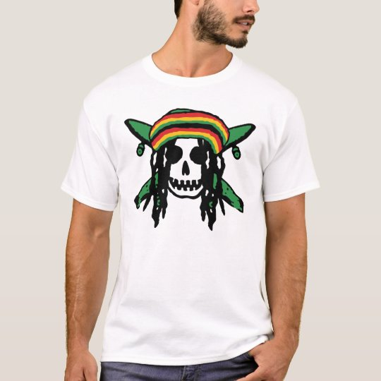 Camiseta Skull  Reggae
