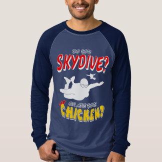 Camiseta Skydive ou galinha? (branco)
