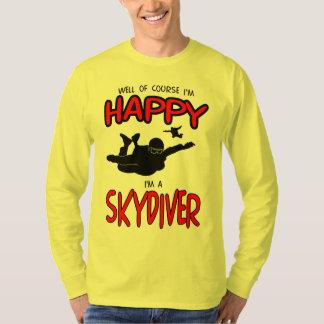 Camiseta Skydiver feliz (preto)