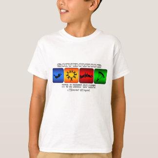 Camiseta Skydiving legal é um modo de vida