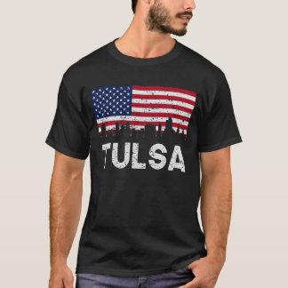 Camiseta Skyline APROVADA da bandeira americana de Tulsa