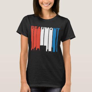 Camiseta Skyline branca e azul vermelha de Beaumont Texas