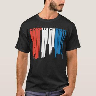 Camiseta Skyline branca e azul vermelha de Corpus Christi