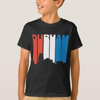 Camiseta Skyline branca e azul vermelha de Durham North