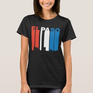 Camiseta Skyline branca e azul vermelha de El Paso Texas