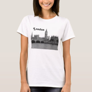 Camiseta Skyline BRITÂNICA de Londres Inglaterra gravada
