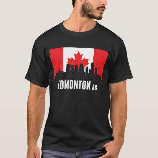 Camiseta Skyline canadense de Edmonton da bandeira