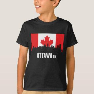 Camiseta Skyline canadense de Ottawa da bandeira