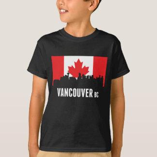 Camiseta Skyline canadense de Vancôver da bandeira