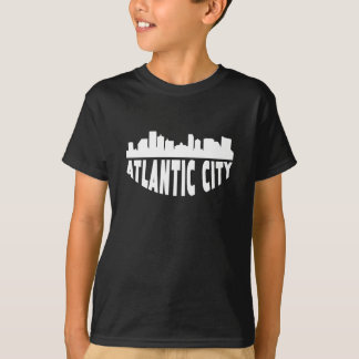 Camiseta Skyline da arquitectura da cidade de Atlantic City