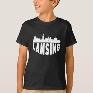 Camiseta Skyline da arquitectura da cidade de Lansing MI
