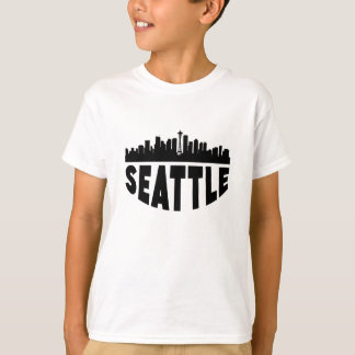 Camiseta Skyline da arquitectura da cidade de Seattle WA