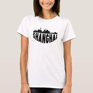 Camiseta Skyline da arquitectura da cidade de Shanghai