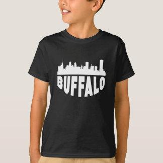 Camiseta Skyline da arquitectura da cidade do búfalo NY