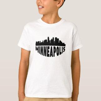 Camiseta Skyline da arquitectura da cidade do manganês de