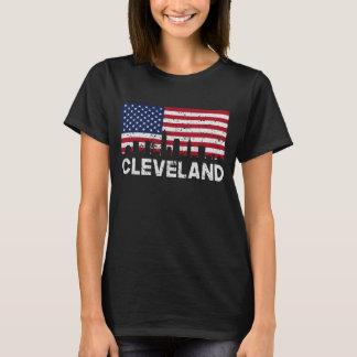 Camiseta Skyline da bandeira americana de Cleveland OH