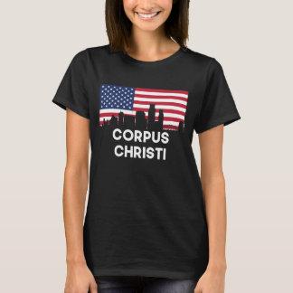 Camiseta Skyline da bandeira americana de Corpus Christi TX