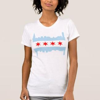 Camiseta Skyline da bandeira de Chicago
