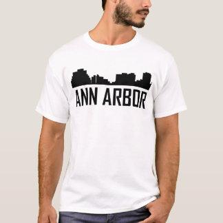 Camiseta Skyline da cidade de Ann Arbor Michigan
