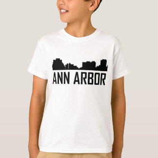 Camiseta Skyline da cidade de Ann Arbor Michigan